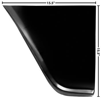 Picture of FENDER REAR LOWER PANEL LH 60-66 : 1097QK CHEVY PICKUP 60-66