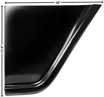 Picture of FENDER REAR LOWER PANEL RH 55-57 : 1097QE CHEVY PICKUP 55-57