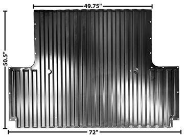 Picture of FLOOR FRONT SEC. OF 8' BED 67-72 : 1107KA CHEVY PICKUP 67-72