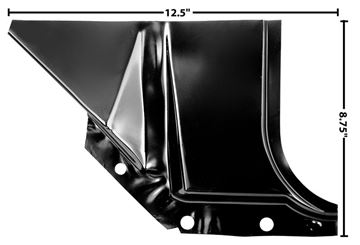 Picture of FOOT WELL PANEL RH 60-66 : 1114W CHEVY PICKUP 60-66