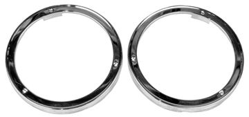 Picture of HEADLAMP BEZEL CHROME PAIR 63 : 1115S CHEVY PICKUP 63-63