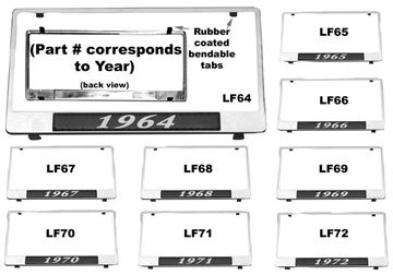 Picture of LICENSE PLATE FRAMES 1964 : LF64 CHEVY PICKUP 64-64