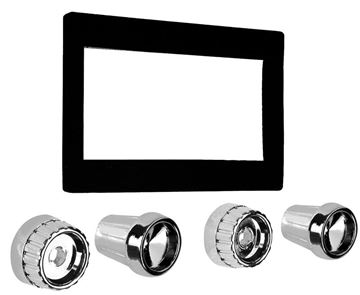 Picture of RADIO BEZEL & KNOB KIT 1960-63 : AM-1215 CHEVY PICKUP 60-63