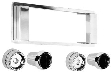 Picture of RADIO BEZEL & KNOB KIT 1964-66 : AM-1220 CHEVY PICKUP 64-66