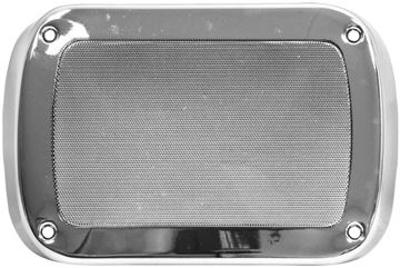 Picture of RADIO SPEAKER COVER CHROME 55-59 : 21100 CHEVY PICKUP 55-59