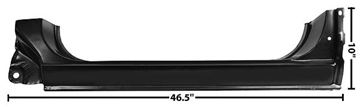 Picture of ROCKER PANEL LH 73-87 OE STYLE : 1104DB CHEVY PICKUP 73-87