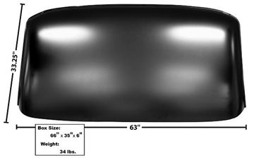 Picture of ROOF PANEL 1967-1972 : 1112R CHEVY PICKUP 67-72