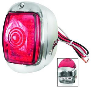 Picture of TAIL LIGHT RED LH 40-53 LED(45) : C7033RL CHEVY PICKUP 40-53