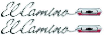 Picture of EMBLEM EL CAMINO QUARTER 65 PAIR : EM4825 EL CAMINO 65-65