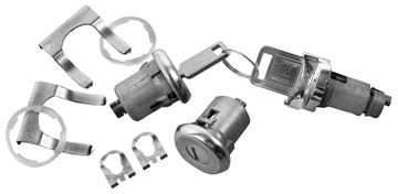 Picture of LOCK KIT IGNITION/DOOR LATER STYLE : 142 EL CAMINO 64-64
