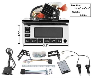 Picture of RADIO MODEL ONE CHROME 65-73 : AM-MOD1C EL CAMINO 64-72