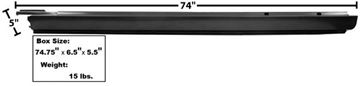 Picture of ROCKER PANEL LH 68-72 EL CAMINO : 1489BB EL CAMINO 68-72