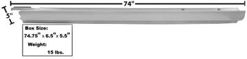 Picture of ROCKER PANEL LH 68-72 EL CAMINO : 1489BBWT EL CAMINO 68-72