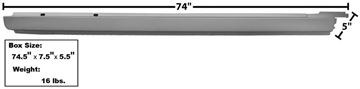 Picture of ROCKER PANEL RH 68-72 EL CAMINO : 1489BAWT EL CAMINO 68-72