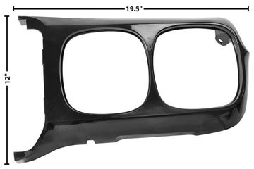 Picture of HEADLAMP BEZEL LH 69 : M1069D FIREBIRD 69-69