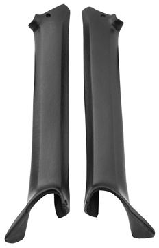 Picture of PILLAR POST MOLDING 68 BLACK PAIR : K696001 FIREBIRD 68-68