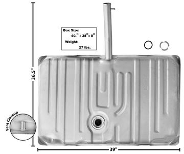 Picture of GAS TANK 1969-70 W/14 FILL NECK : T77 GTO 69-70