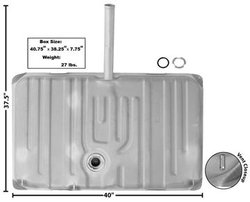 Picture of GAS TANK 1970 W/14 FILL NECK : T78 GTO 70-70