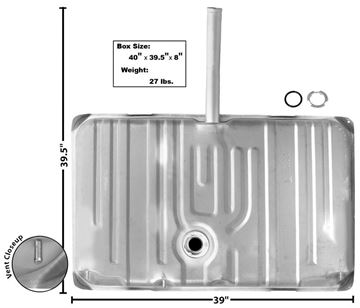 Picture of GAS TANK 1971-2 W/15 FILL NECK : T79 GTO 71-72