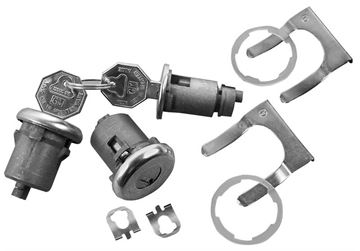 Picture of LOCK KIT DR/IGNITION ORIGINAL KEY : 143A GTO 64-65