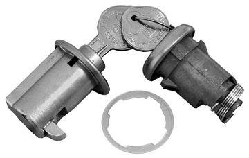 Picture of LOCK KIT TRUNK & GLOVEBOX ORIGINAL : 195A GTO 62-62