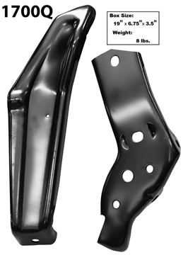 Picture of BUMPER BRACKET REAR LH 64 2PC/SET : 1700Q IMPALA 64-64