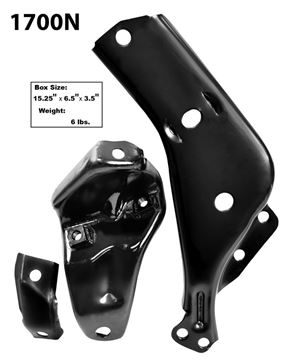 Picture of BUMPER BRKT FRONT 64 LH 3PC/SET : 1700N IMPALA 64-64
