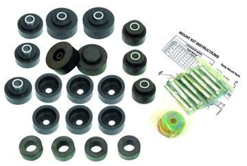 Picture of BUSHING BODY KIT W/BOLTS 69-70 HT : M1728D IMPALA 69-70