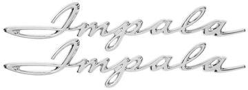 Picture of EMBLEM REAR QUARTER SCRIPT 62 : EM2171 IMPALA 62-62