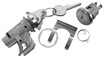 Picture of LOCK KIT GLOVEBOX & TRUNK ORIGINAL : 150A IMPALA 68-68