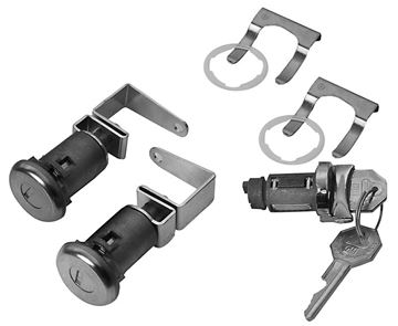 Picture of LOCK KIT IGNITION AND DOOR 59-60 : 457 IMPALA 59-60