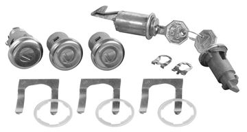 Picture of LOCK KIT ORIGINAL 67 : 332 IMPALA 67-67