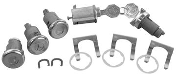 Picture of LOCK KIT ORIGINAL W/ LONG CYLINDER : 424 IMPALA 61-62