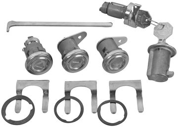Picture of LOCK KIT ORIGINAL W/ SHORT CYLINDER : 423 IMPALA 58-58