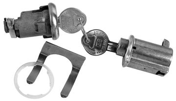 Picture of LOCK KIT TRUNK & GLOVEBOX ORIGINAL : 171A IMPALA 61-62