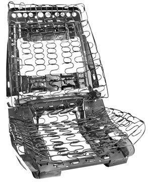 Picture of SEAT FRAME ASSY FRONT BUCKET : 1402A IMPALA 69-69