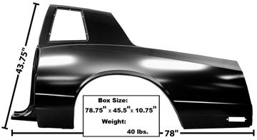 Picture of QUARTER PANEL LH 81-88 : 1301 MONTECARLO 81-88