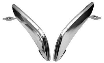 Picture of BUMPER GUARD REAR 1965-66 CHROME : 3639A MUSTANG 64-66