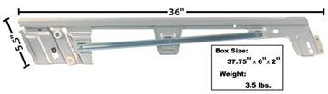 Picture of DOOR GLASS CHANNEL/RETAINER ASSY LH : 3614EK MUSTANG 67-68