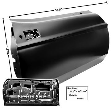 Picture of DOOR SHELL RH 71-73 : 3640ZD MUSTANG 71-73