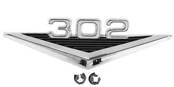Picture of EMBLEM FENDER 302 64-66 : EM3621 MUSTANG 64-66
