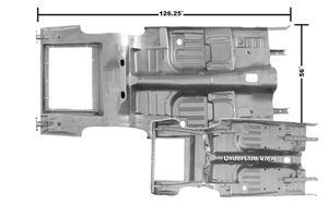 Picture of FLOOR & TRUNK PAN 1969-70 CP/FB : 3648UWT MUSTANG 69-70