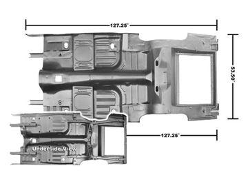 Picture of FLOOR/TRUNK PAN 65-68 CP/FB : 3648RWT MUSTANG 65-66