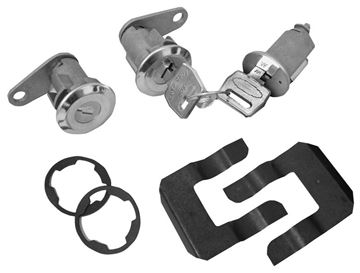 Picture of LOCK KIT IGNITION & DOOR 1967-69 : CL-1555 MUSTANG 67-69