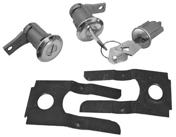 Picture of LOCK KIT IGNITION AND DOOR 1965-66 : CL-4877 MUSTANG 65-66