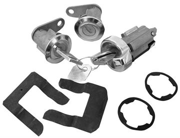 Picture of LOCK KIT IGNITION AND DOOR 1973-76 : CL-1557 MUSTANG 73-76