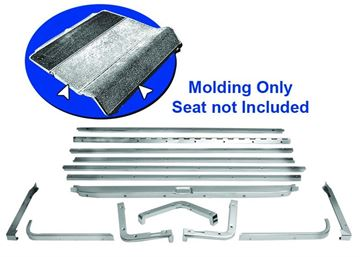 Picture of MOLDING FOLD DOWN SEAT 1965-68 FB : M3507 MUSTANG 65-68