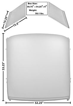Picture of ROOF PANEL 65-66 COUPE : 3643XHWT MUSTANG 65-66