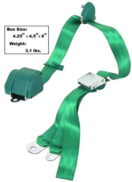 Picture of SEAT BELT 3-POINT MOUNT  AQUA : SB3-AQUA MUSTANG 65-73