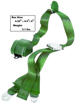 Picture of SEAT BELT 3-POINT MOUNT  GREEN : SB3-GREEN MUSTANG 65-73